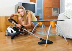 Using a Canister to Vacuum Hardwood Floors
