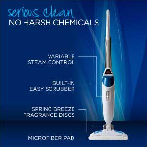 Main Features of the BISSELL Powerfresh Steam Mop