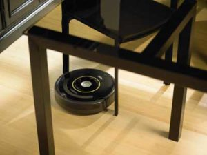 Using Irobot Roomba to Clean Dining Area
