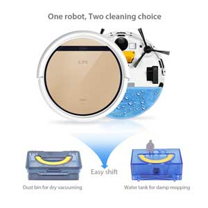 Dust bin and Water Tank of ILIFE V5s Robot Vacuum